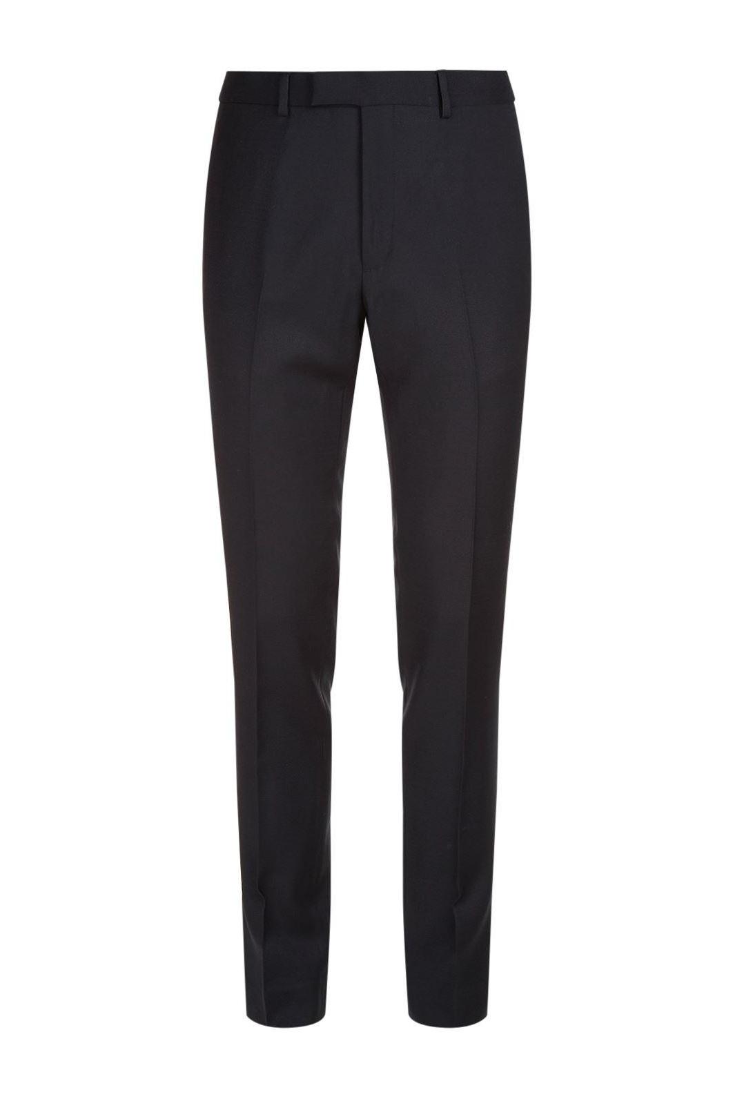 Sandro Paris - Navy Pique Trousers.jpg