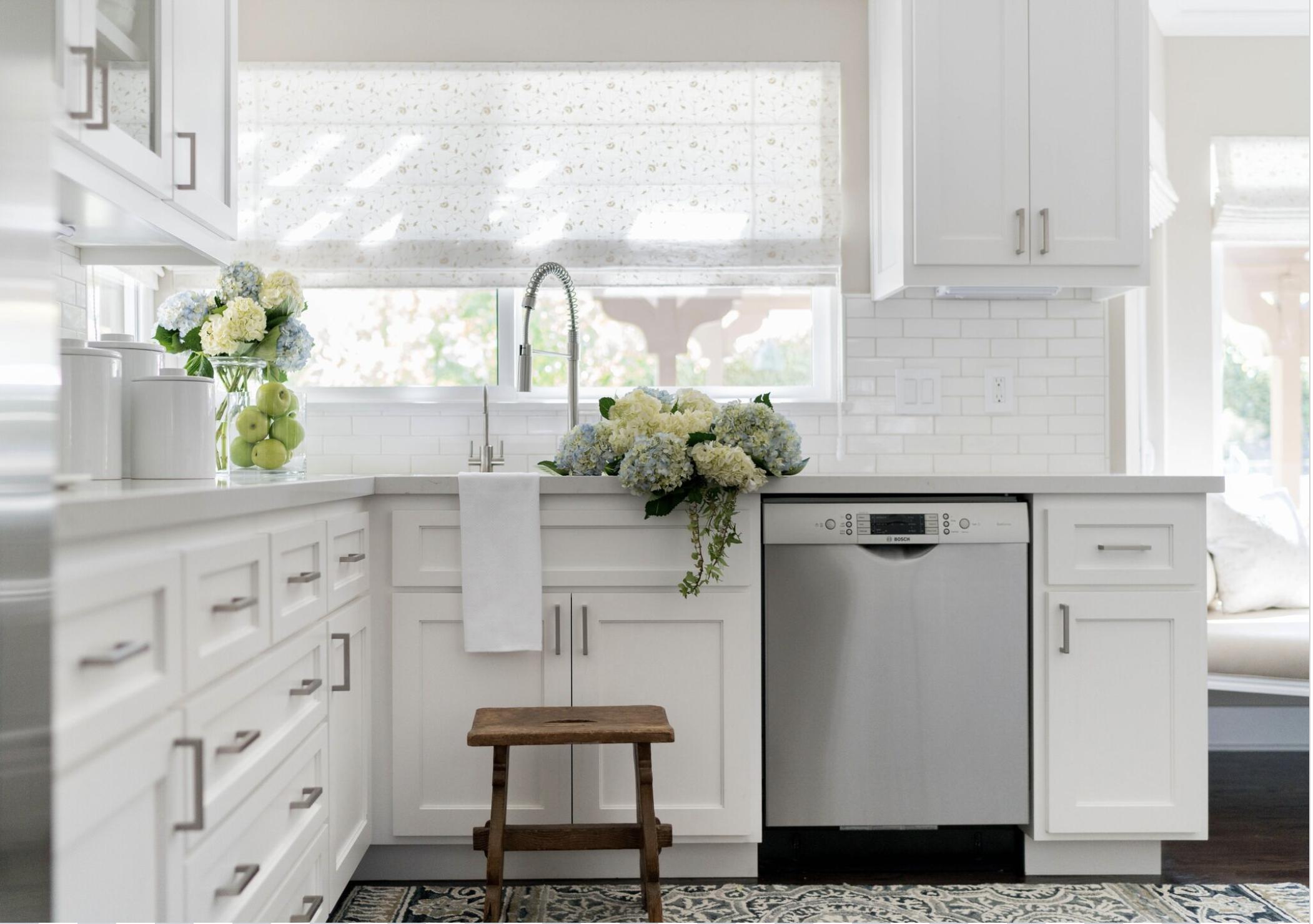 Four Point Design Build designed this dreamy white kitchen.