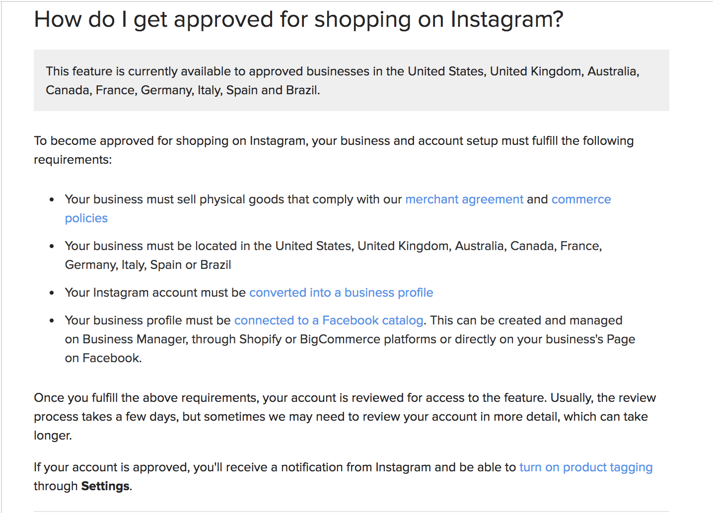 How Do I Get Approved For Shopping On Instagram
