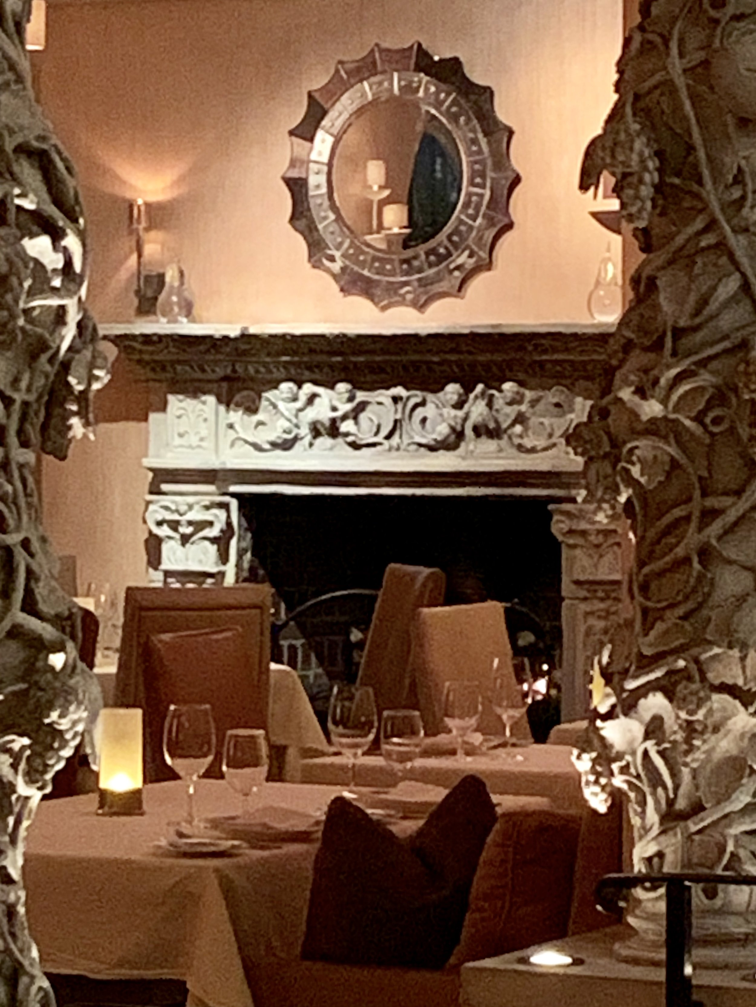 The dining room at The Mansion on Turtle Creek.