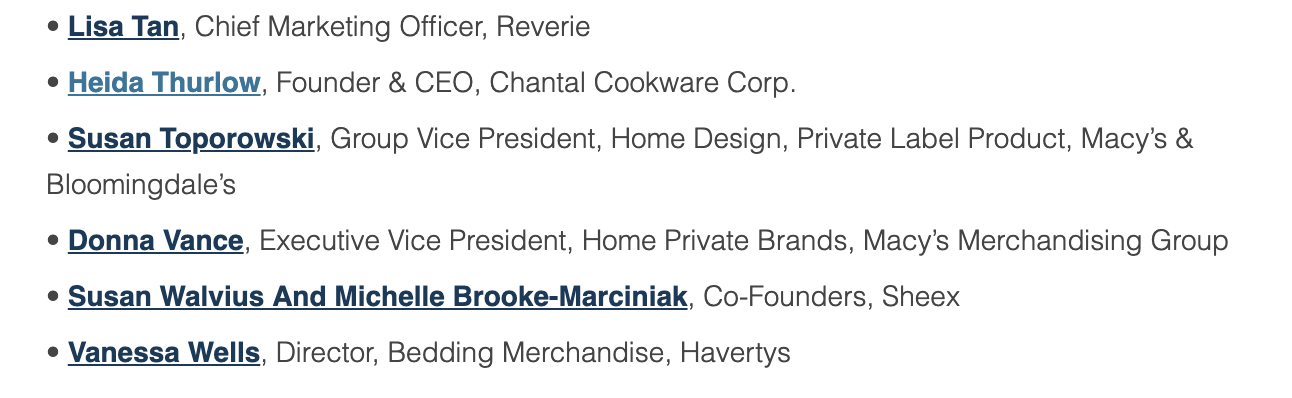 Top Female Leaders In the Home Furnishings Industry