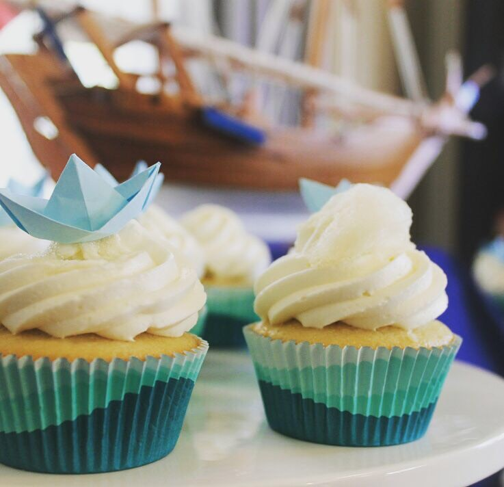 Don't underestimate the power of the cupcake liner. - A simple vanilla or chocolate cupcake with no frills frosting can be transformed with the perfect liner that matches your party theme. When in doubt though, kraft liners are versatile and let the frosting and/or topper shine.