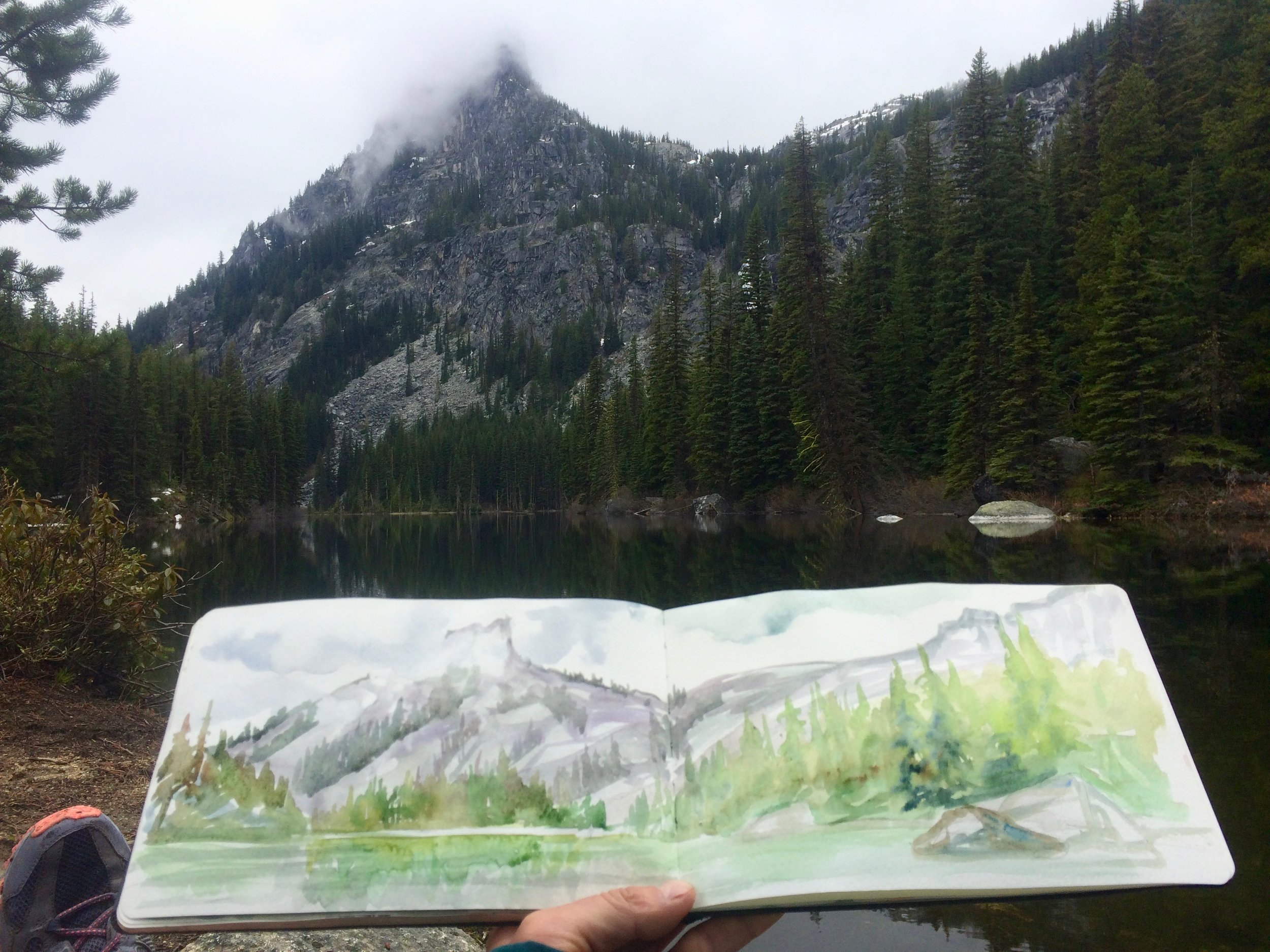 A hike through the Enchantments - Above Leavenworth likes a misty dreamland!
