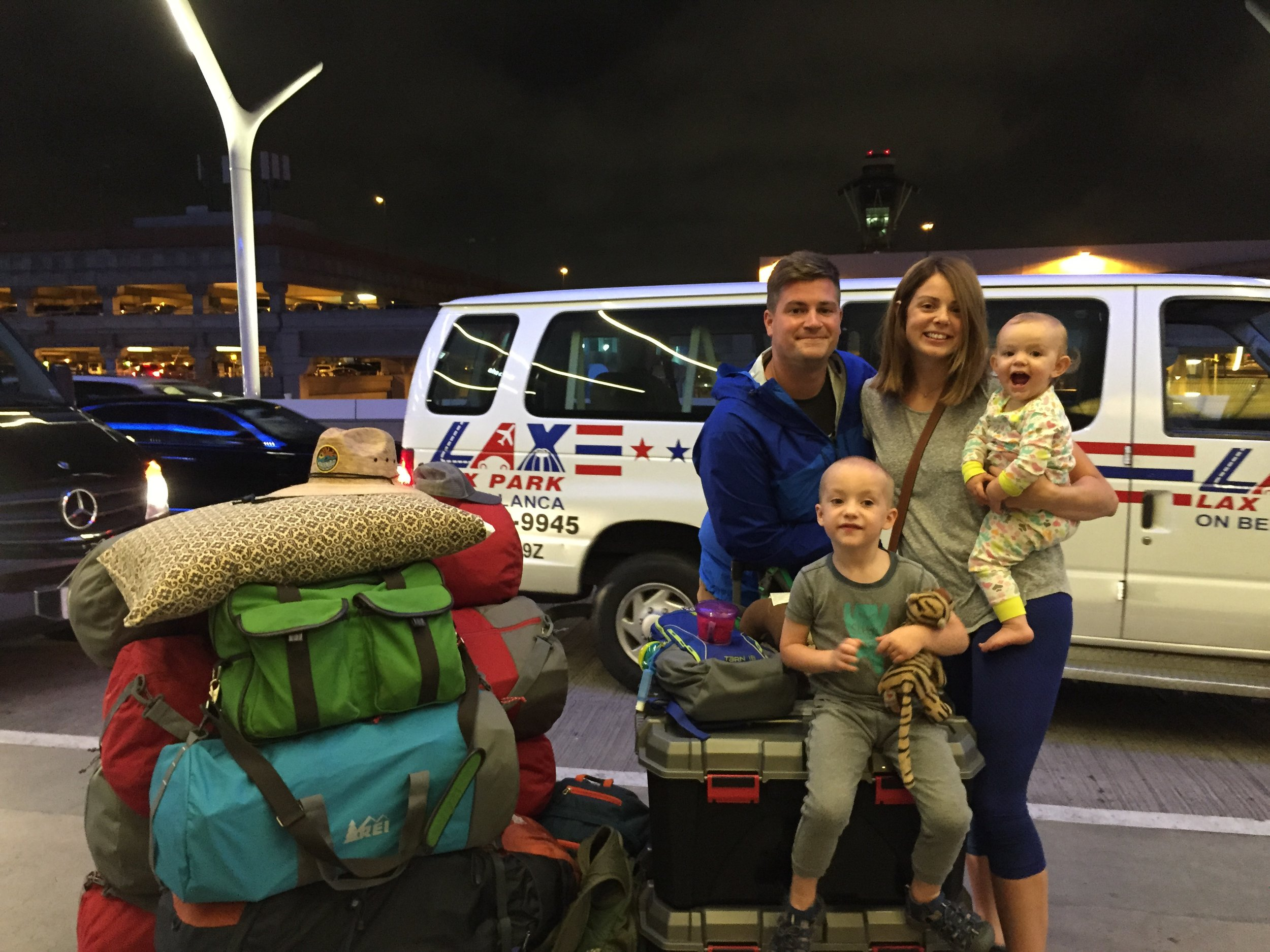 David, Emily and their two children on the day they left for Papua New Guinea