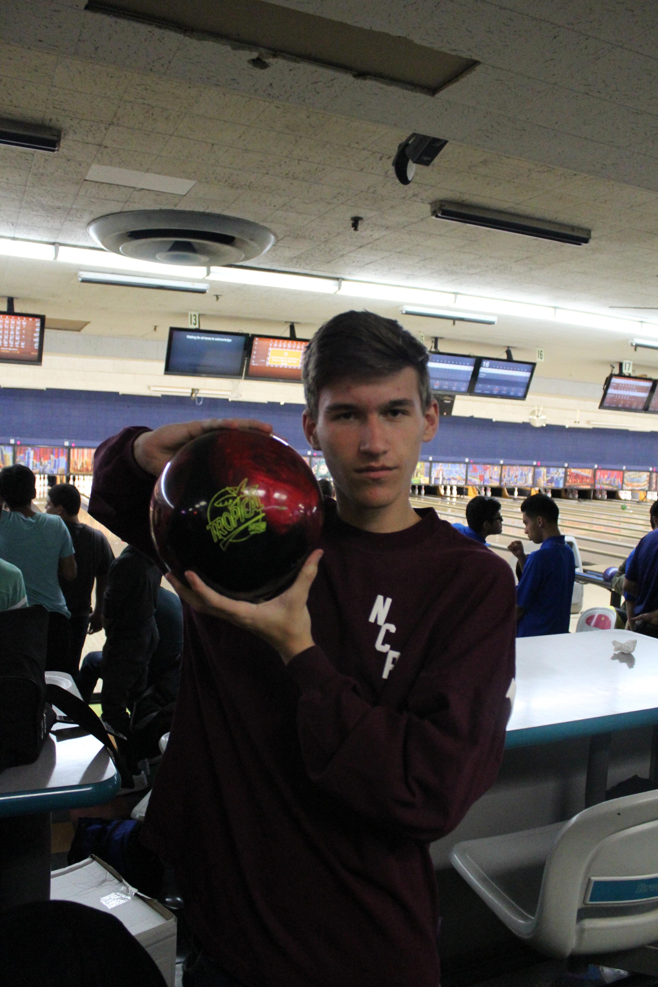Blake Lehman, Adv. 804, clutches the ball.