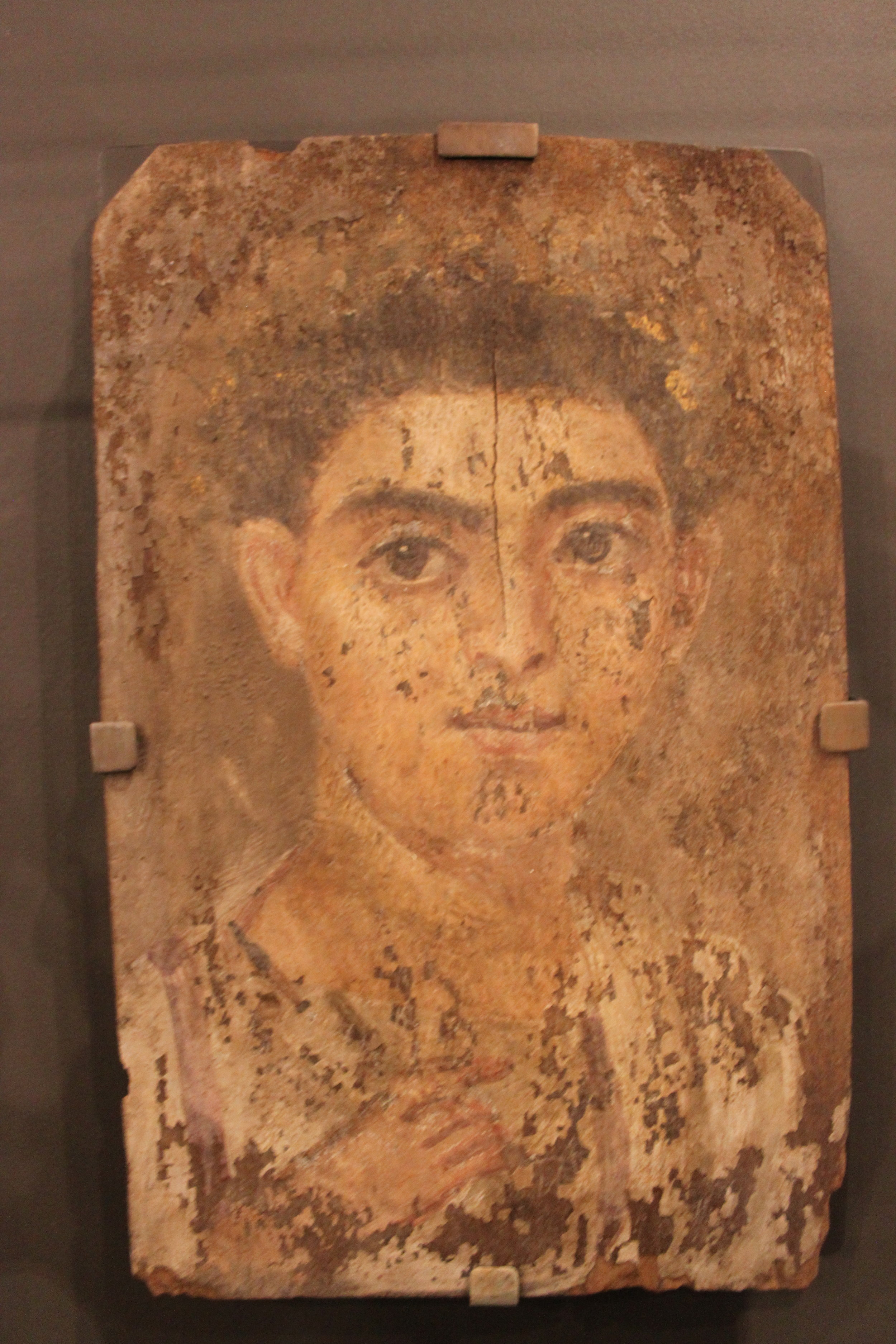 Mummy Portrait of a Young Boy - Roman period (30 BCE  - 295 CE)