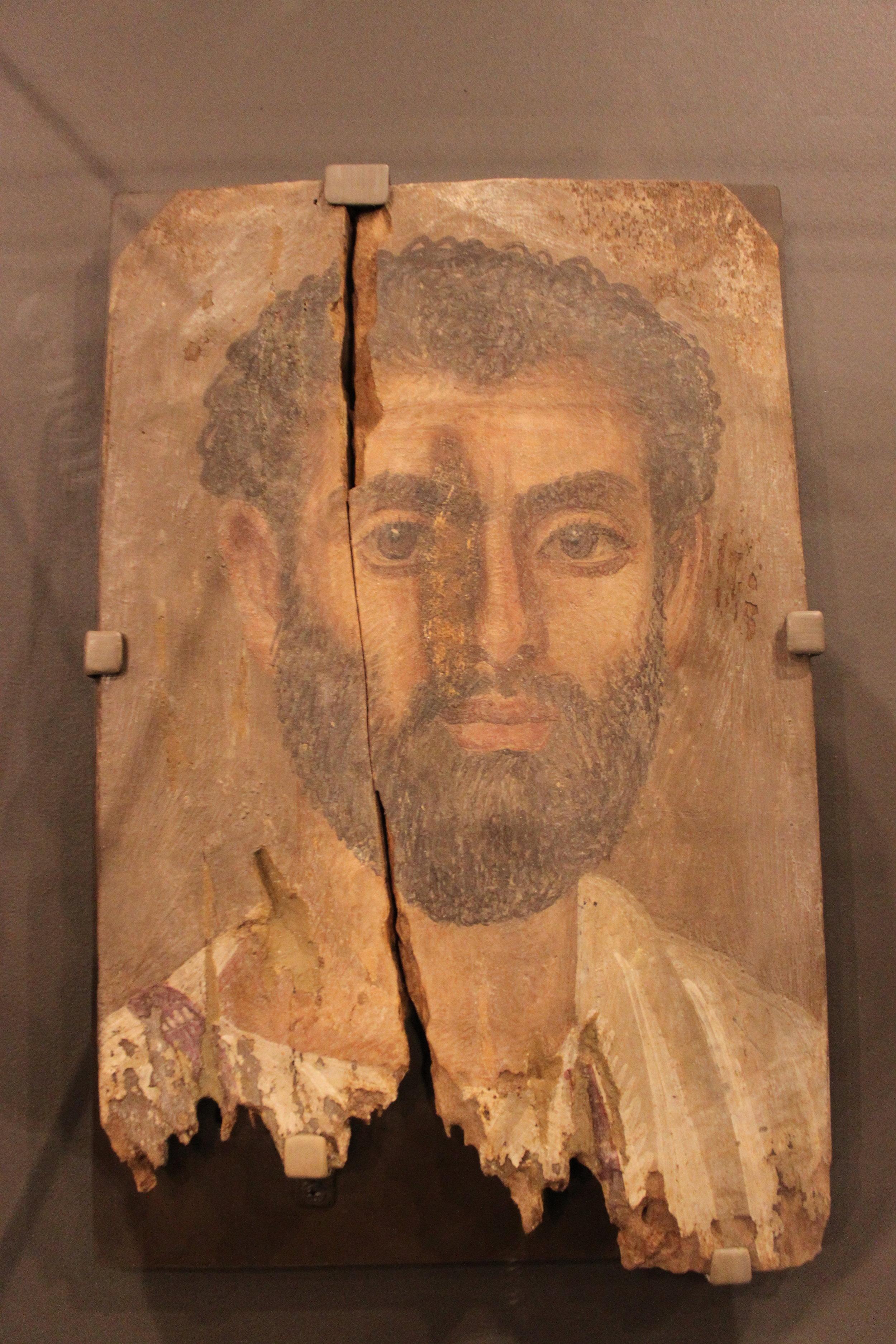 Mummy Portrait of Bearded Man - Roman period (30 BCE  - 295 CE)
