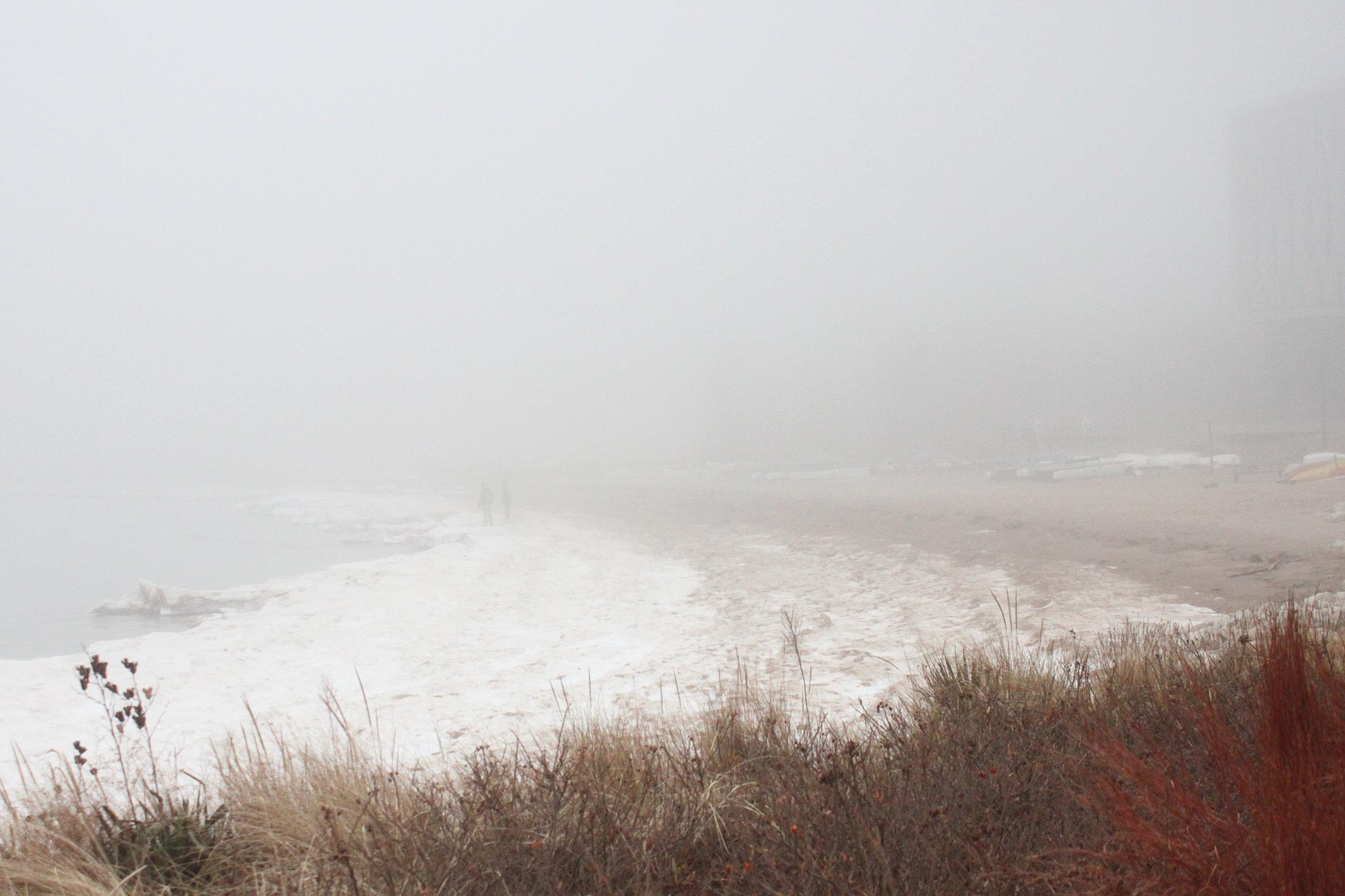 View of Lake Michigan from the Northwestern Beach