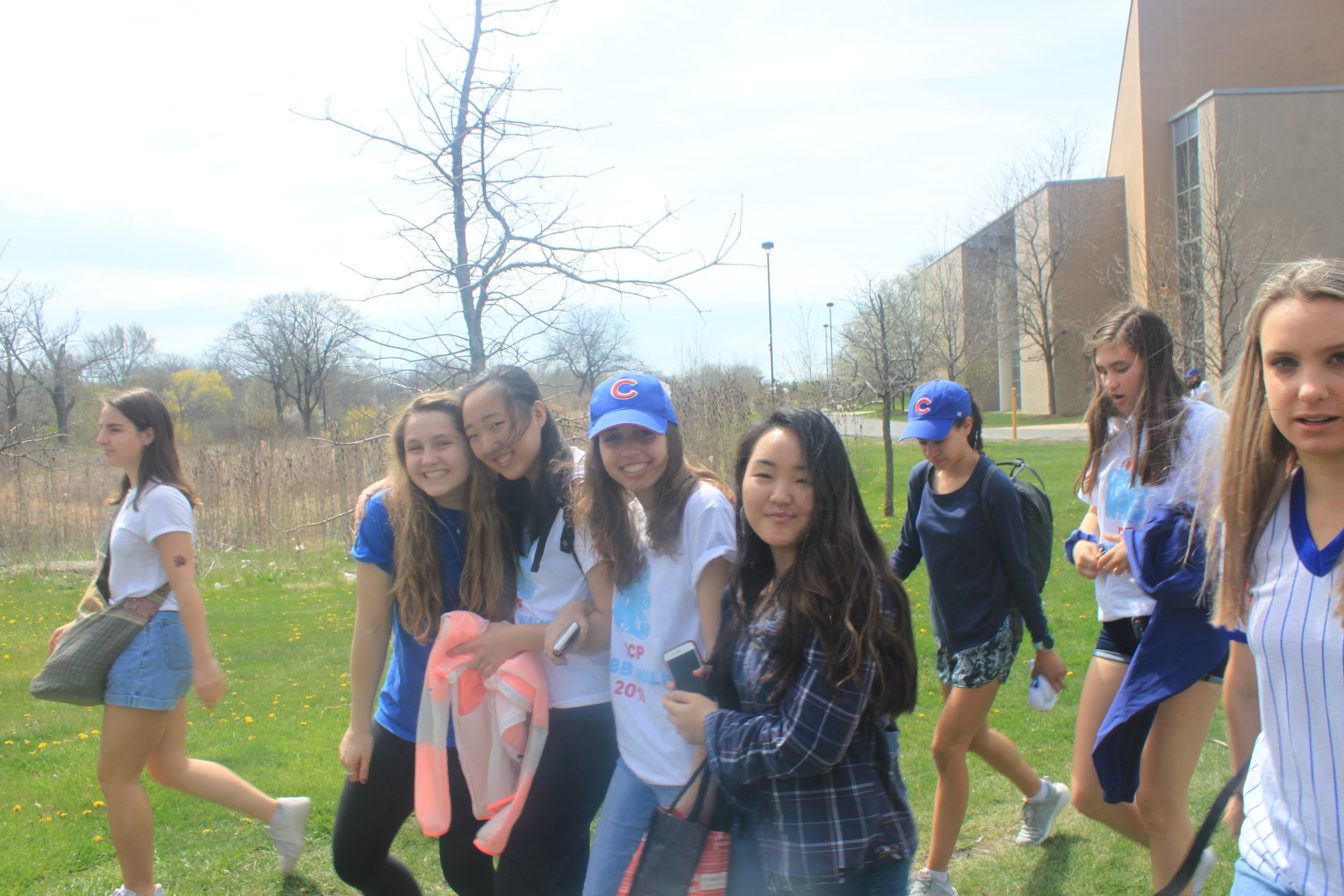 Northsiders smile as they leave school and and excited for the game.
