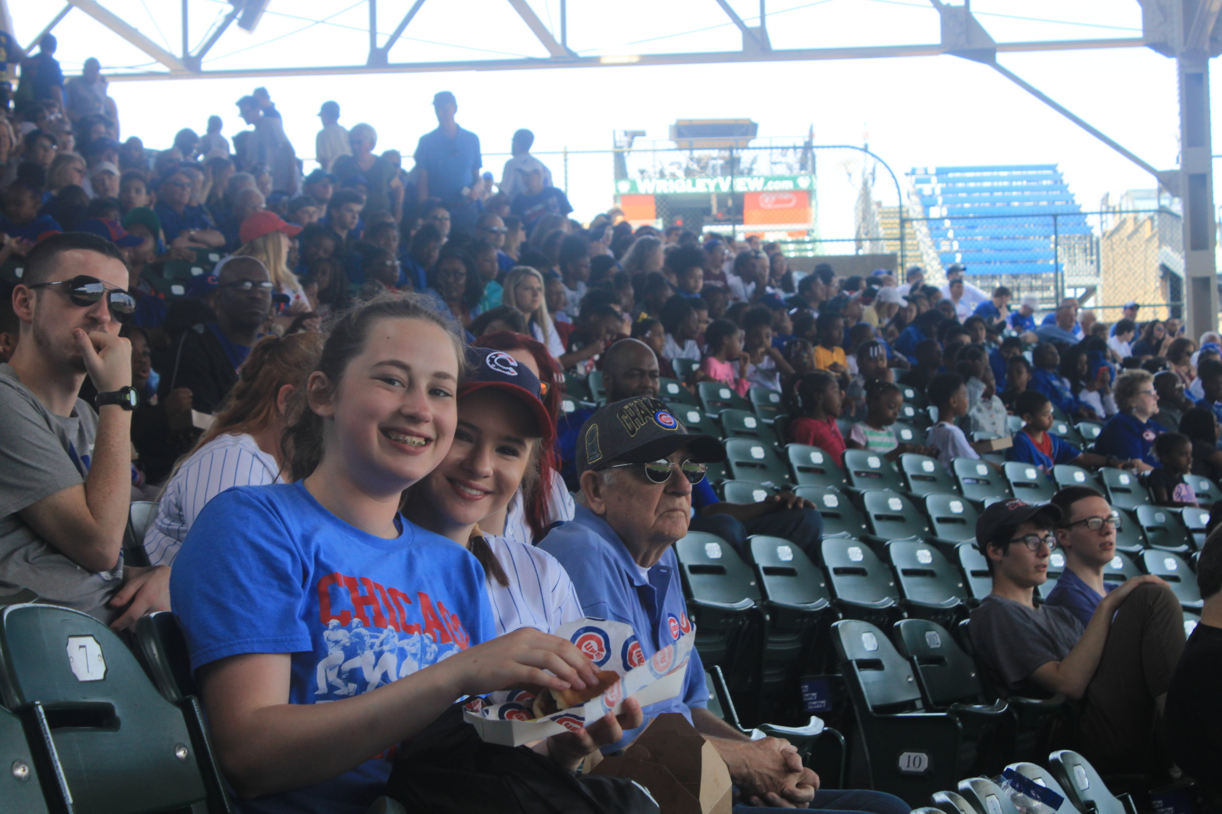 The Northside Section is all smiles at Wrigley.