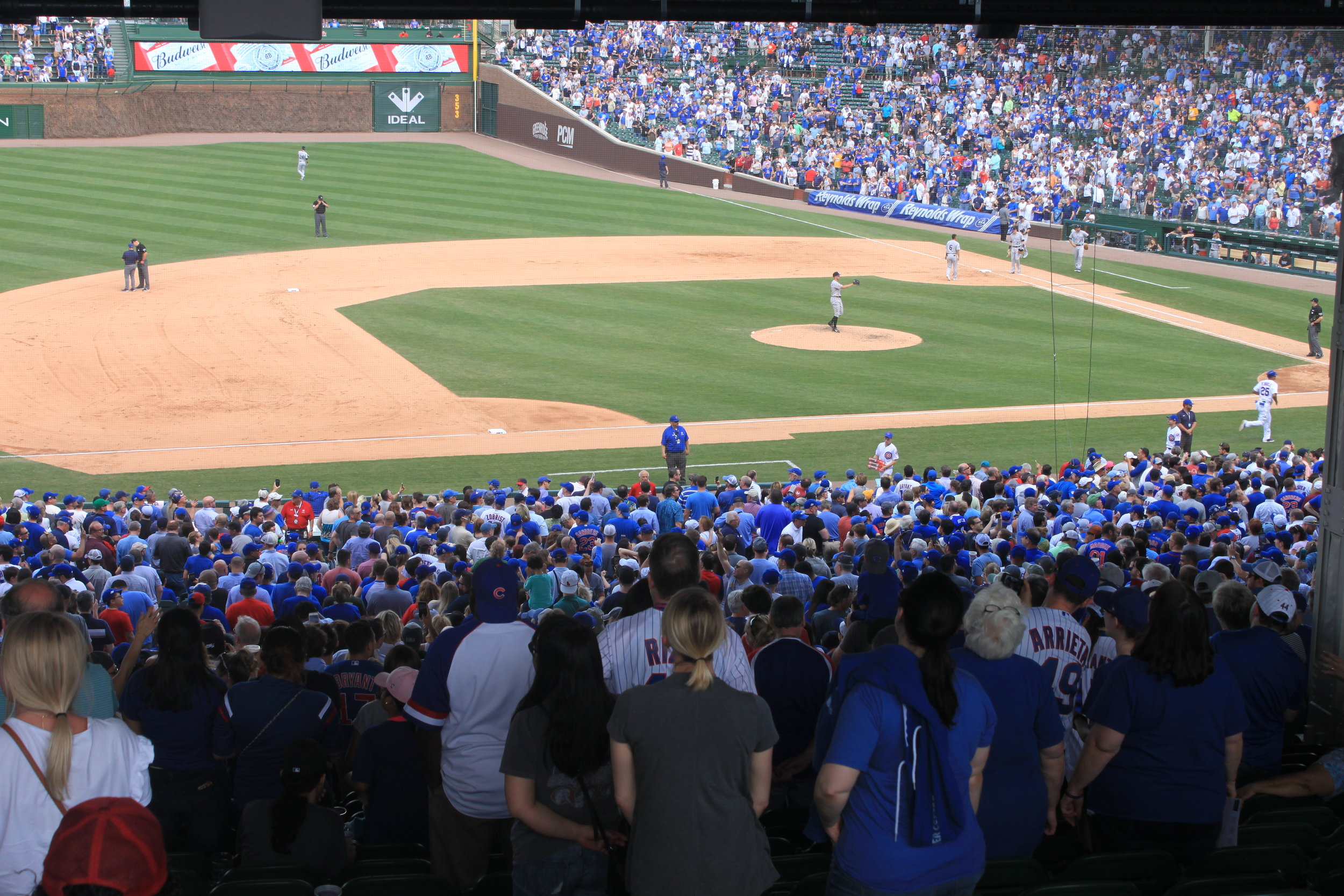 In the seventh inning stretch, Wrigley was filled with excitement and pure joy.
