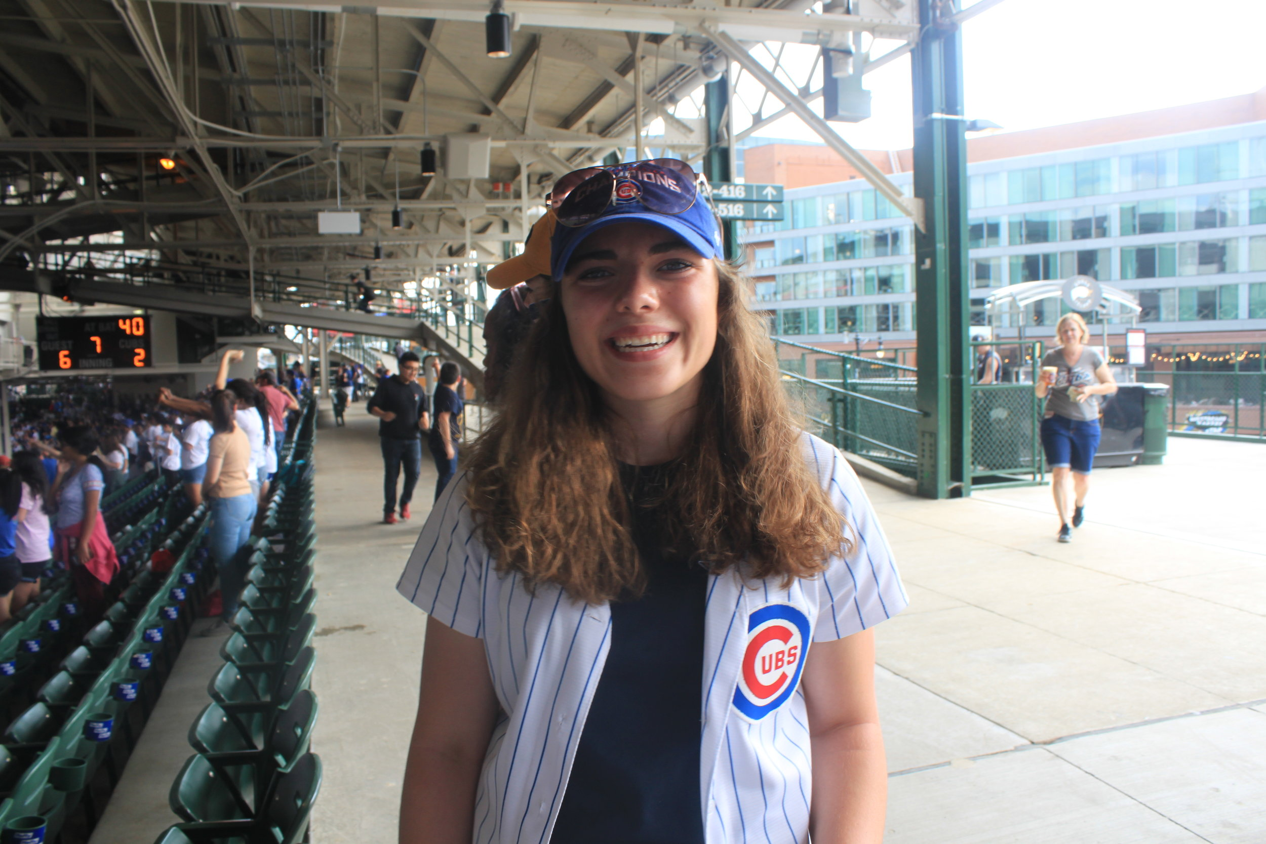 A common feeling at Wrigley, Madeleine Schoeff never wants to leave.