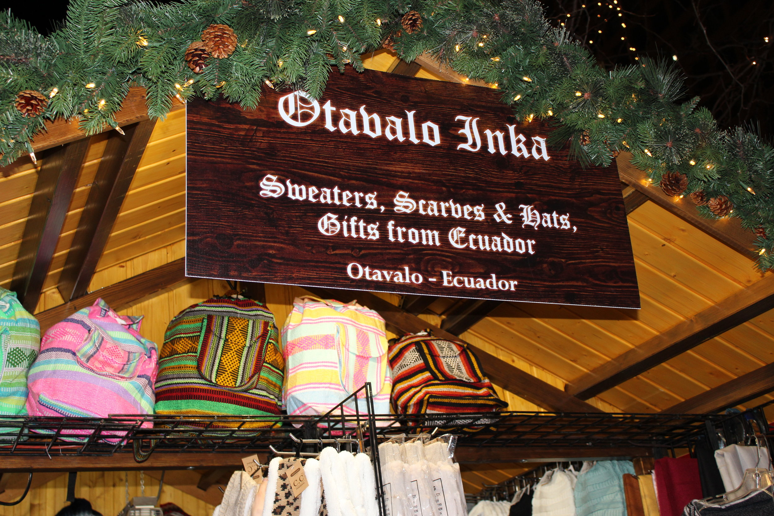 Find a piece of Ecuador here! Christkindlmarket has it all.