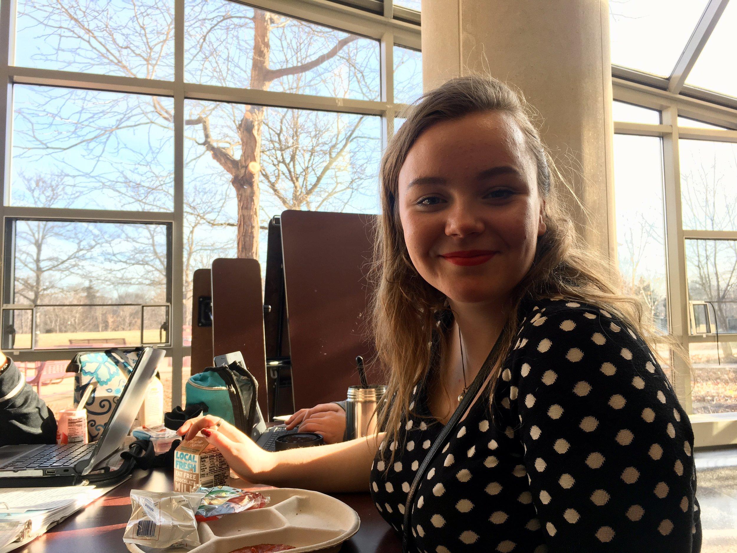 Kiera A Steckelberg, Adv. 000, just wants some alone time over break!