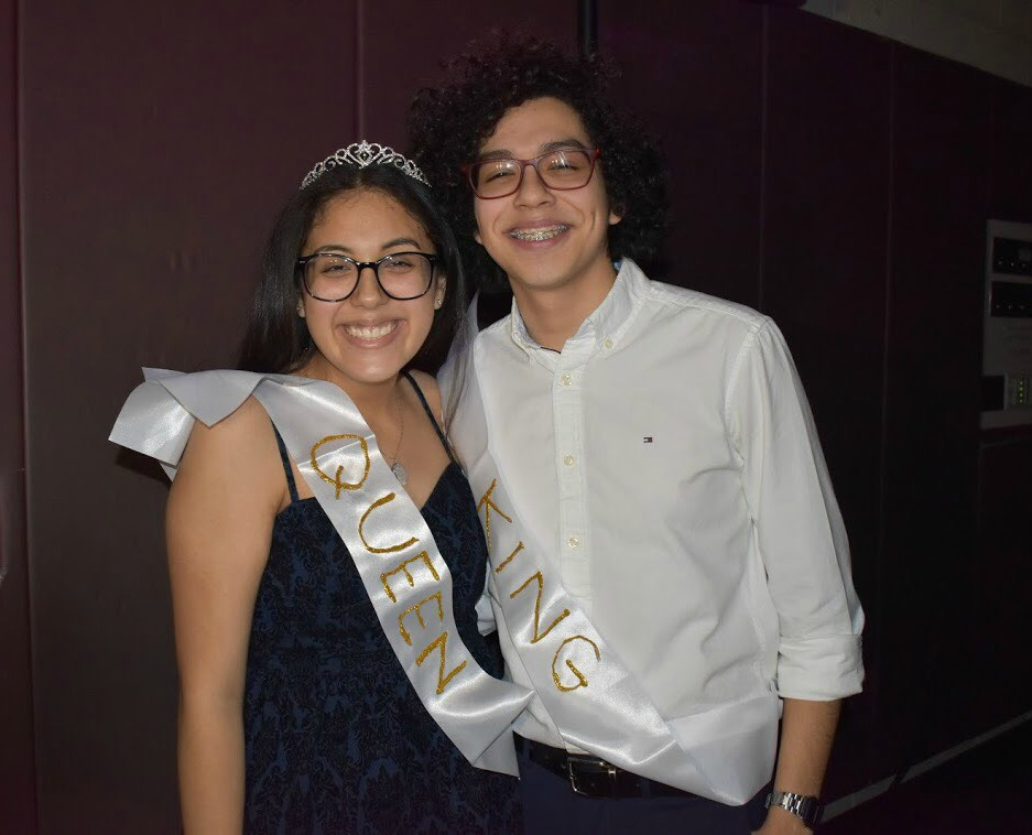 Homecoming royalty Ashley Chavez, (Adv.903) and Enrique Gaona, (Adv. 911)