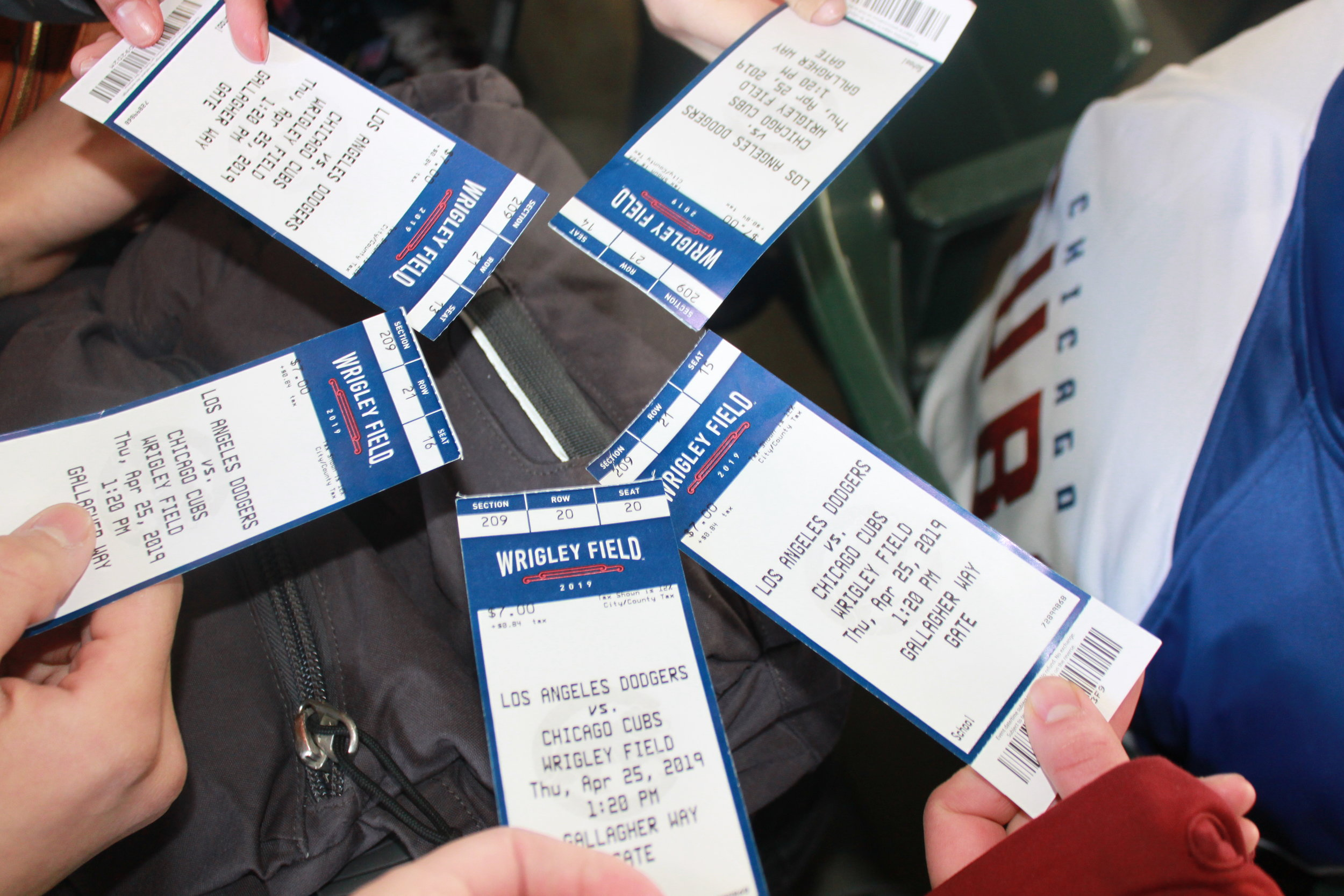Our steeply discounted tickets displayed in all their glory