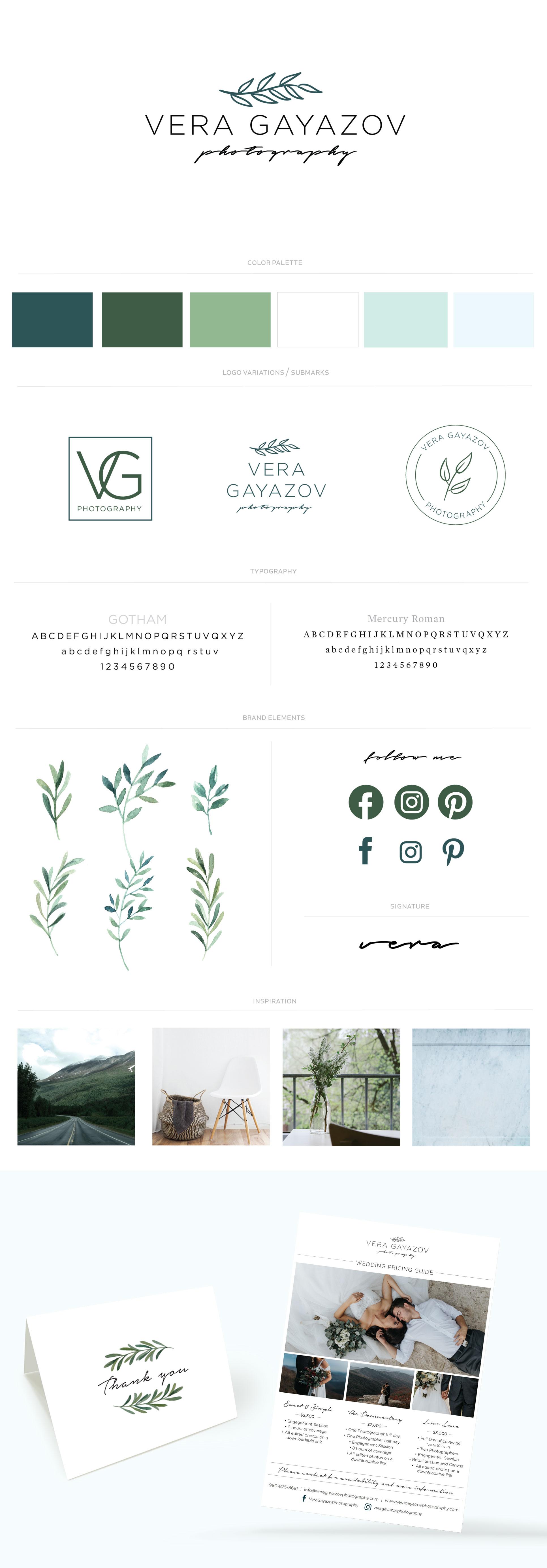 Vera Gayazov Photography | Logo and Branding Design by Callie Cullum