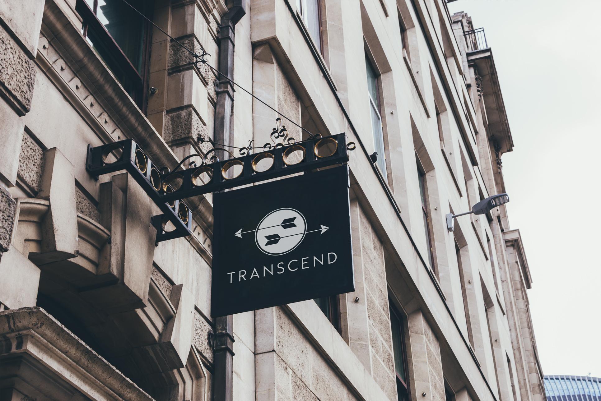 Logo Design on Sign for Transcend Marketplace | Atlanta Designer