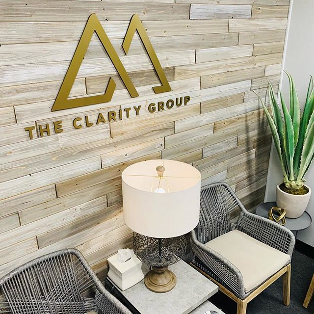 Getting major googly eyes over here seeing this new photo of The Clarity Group's signage in their new office. 😍😍😍 Need branding for your health and wellness business? DM me and let's chat! . . . .  #brandidentity #naming #brandstrategy #brandbuilding#buildingbrands #buildyourbrand #brandingblog #read #brandingarticle#blogpost #newblogpost #brandidentity #corporateidentity #brandconsulting#branding101 #logo #logos #brandingtips  #marketingblog#brandingnews #brandingnewsletter #newsletter #marketingnews  #podcastingnews #wellnessbranding #custombranding #logodesigner #atlcreatives #atlantalogodesign #graphicdesign #branding101