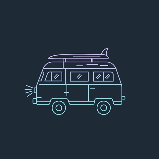 Happy Labor Day weekend! We are heading up to Lake Fontana in the Great Smoky Mountains for our yearly Labor Day camping trip. Unfortunately our van is broken so here's a drawing of her instead. ☺️ . . . #camping #laborday #illustrations #graphicdesign #lakefontana #smokymountains #adventuresaregoodforthesoul