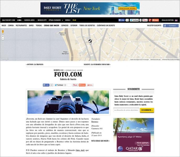 Revista Lima Daily Secret. FOTO.COM