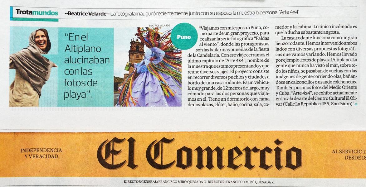 Diario El Comercio. PERFIL TROTAMUNDOS.