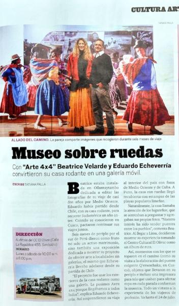 """Revista Somos. Exposición """"ARTE 4X4"""""""