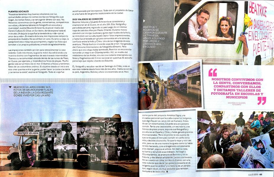 """Revista Reporte Semanal. Exposición """"ARTE 4X4""""."""