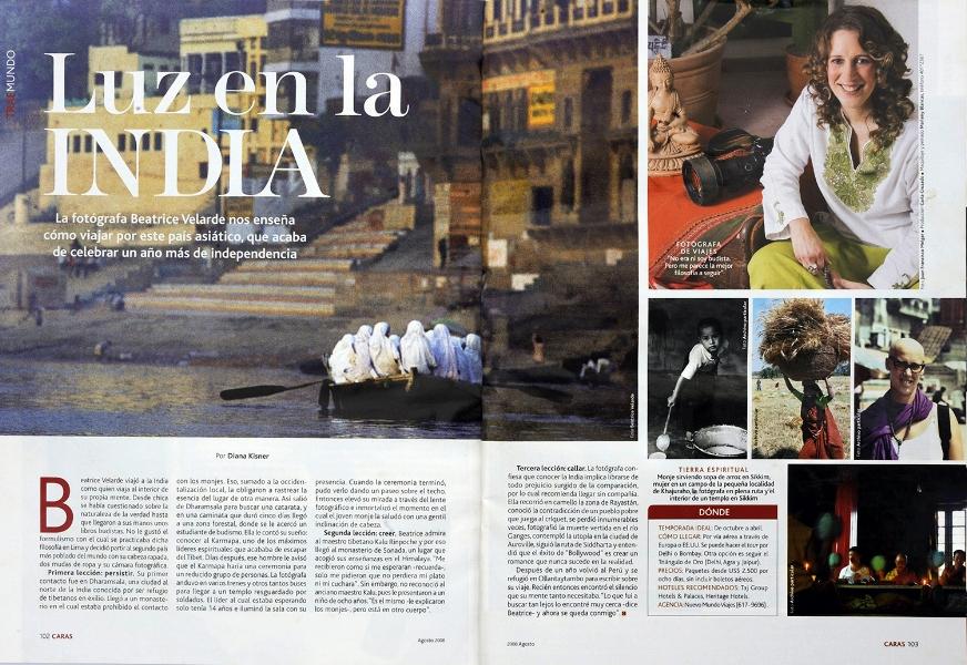 Revista Caras. Entrevista.