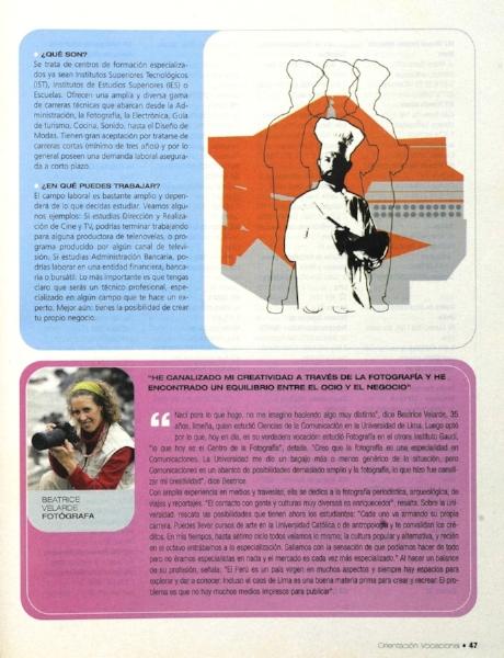 Diario El Comercio, suplemento Orientación Vocacional.