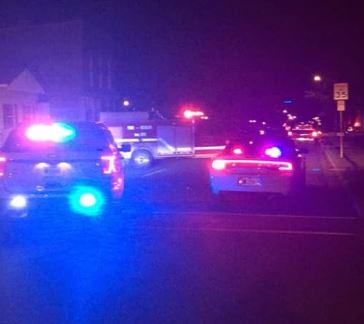 Scene in Jasonville Monday night. Photo by Jasonville Police Department.