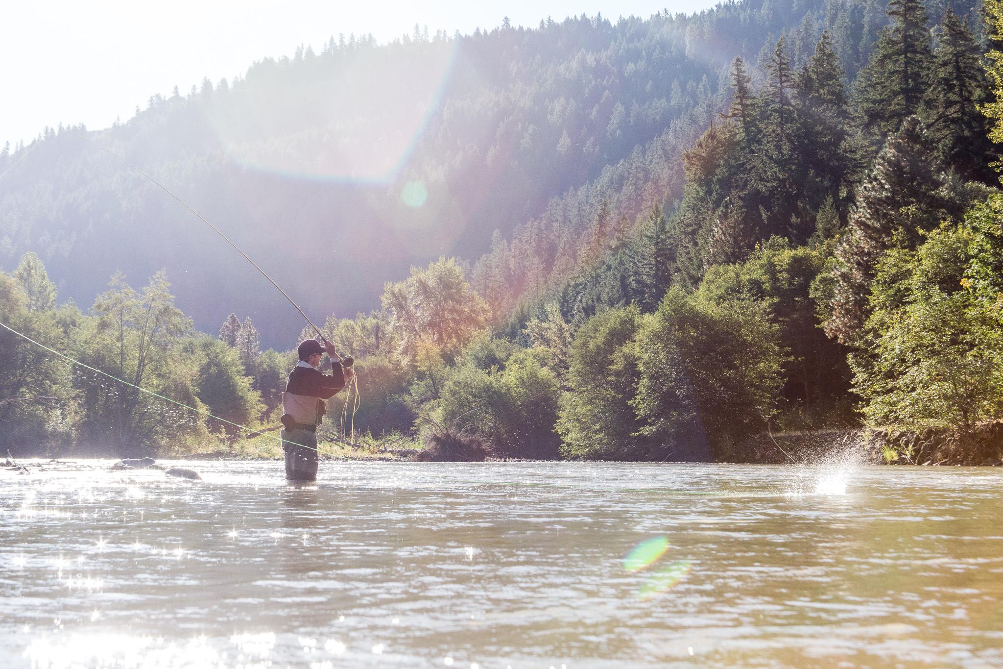 Klickitat River Fly Fishing. photo Reid Curry