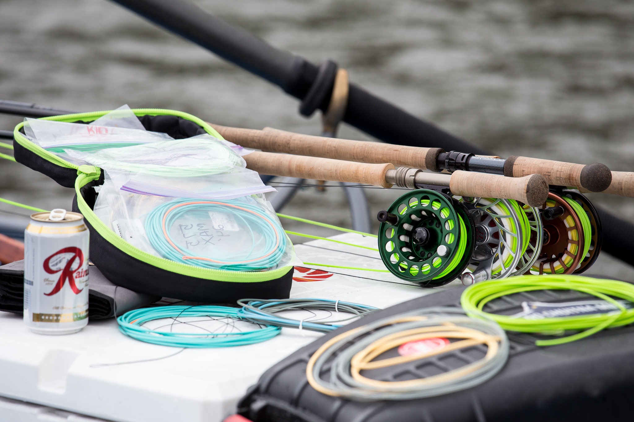 Lines, Lines, and Lines...the single topic that seems to cause the most confusion (perhaps frustration) for anglers trying to get into the spey game. Shown above: a variety of Skagit lines being prepared for rigorous testing.