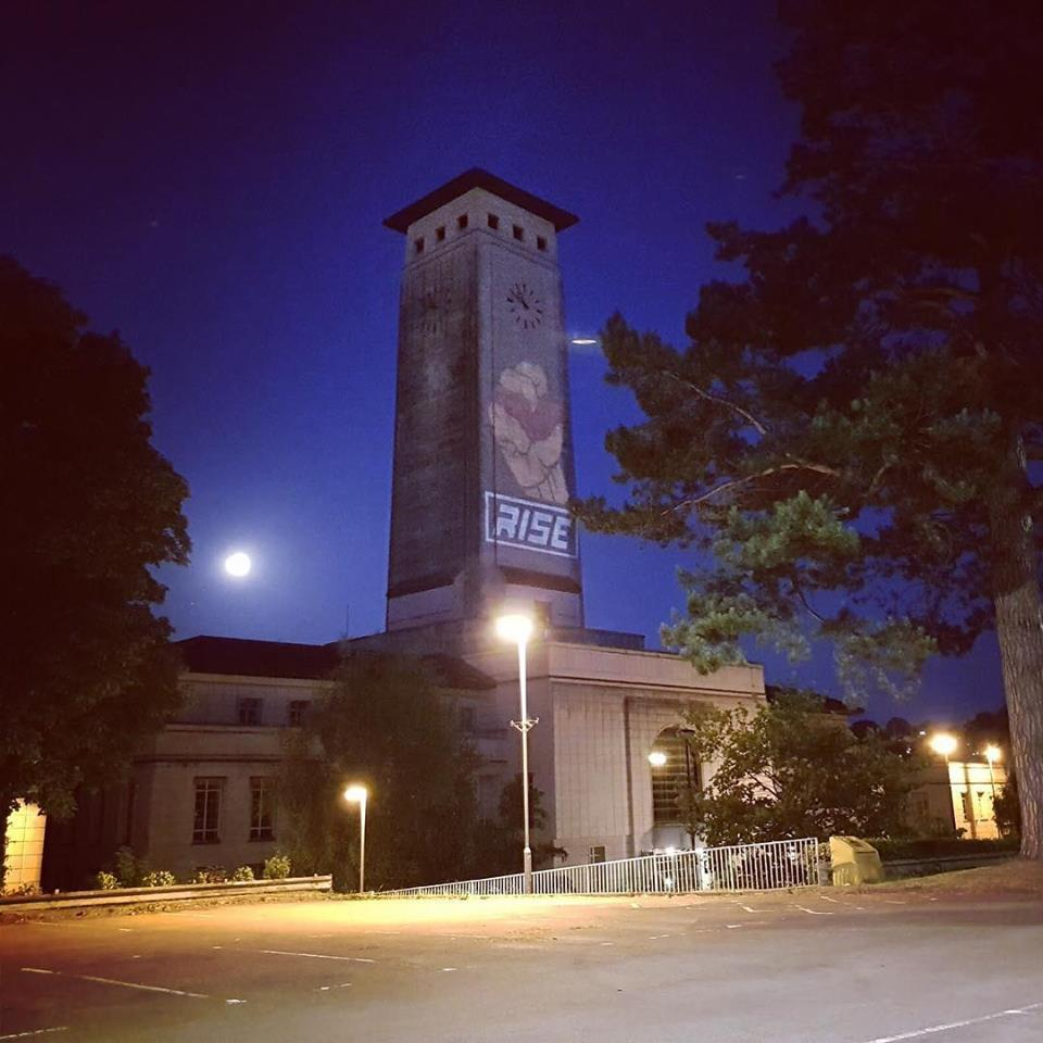 May and June - Illuminating countdown on Newport landmarks
