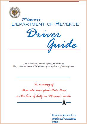 Bosnian Missouri Drivers' Manual