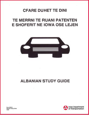Iowa Driver's Manual in Albanian