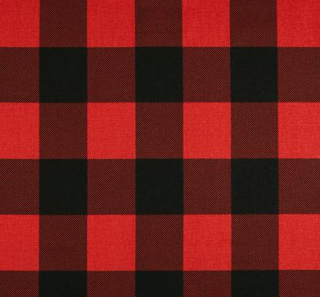 Red/ black buffalo check