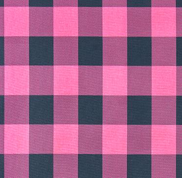 Pink/navy buffalo check