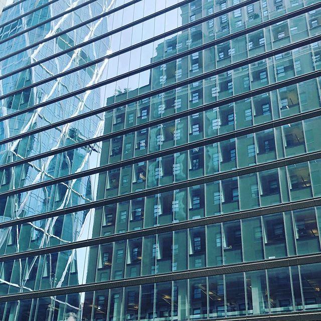 Reflections. . . . . . #FrenchieTrillion #Manhattan #NewYork #JetSet #Hearst #Architecture #WestFiftySeventh #Sightline #Views #LookUp #Travel #GayTravel