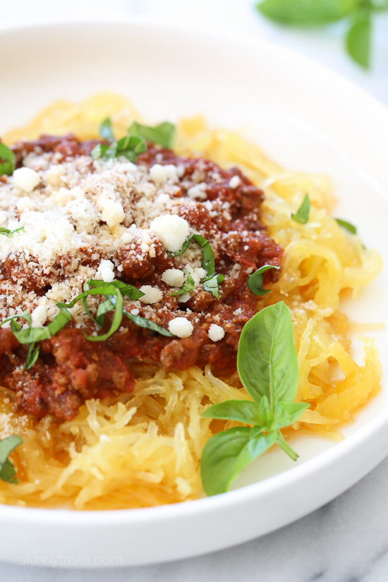 This one is so easy, and so delicious! We love pasta around here, and spaghetti squash is such a great sub for pasta and my husband agrees!