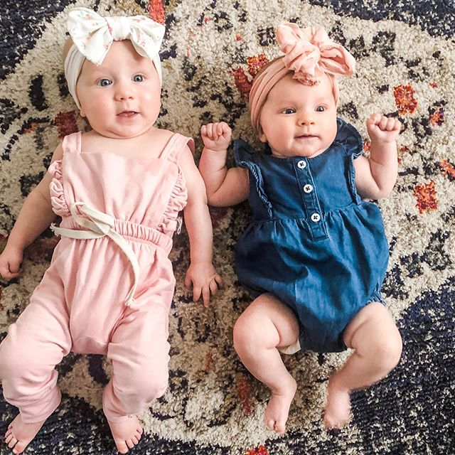These baby girls are six months & ten weeks today! Could they be any cuter? Or look any more like their dads? Maybe we should put Kyle & Trey on a rug in some bows and compare...