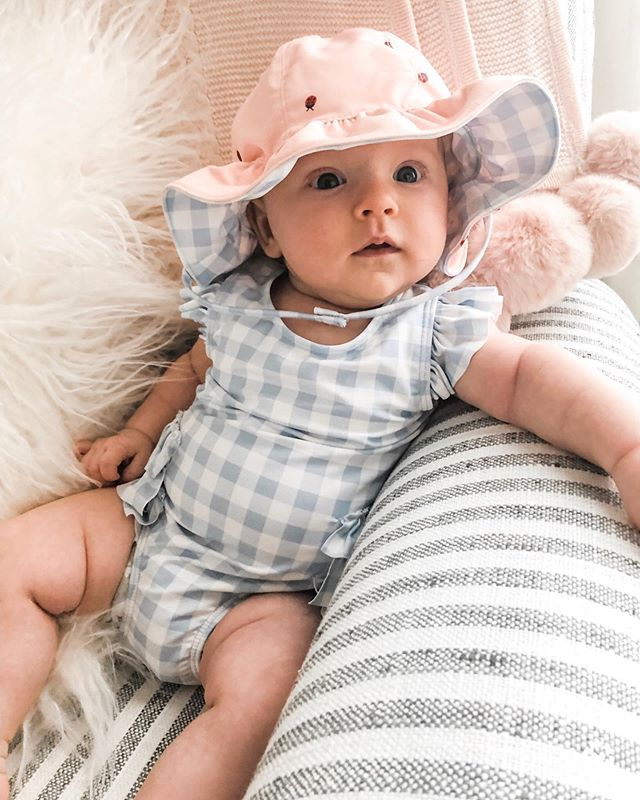 We've decided babies in swimsuits are officially the cutest thing ever. I think we can all agree, right?! http://liketk.it/2BROQ @liketoknow.it @liketoknow.it.family #liketkit #LTKbaby #LTKbump #LTKkids #LTKswim