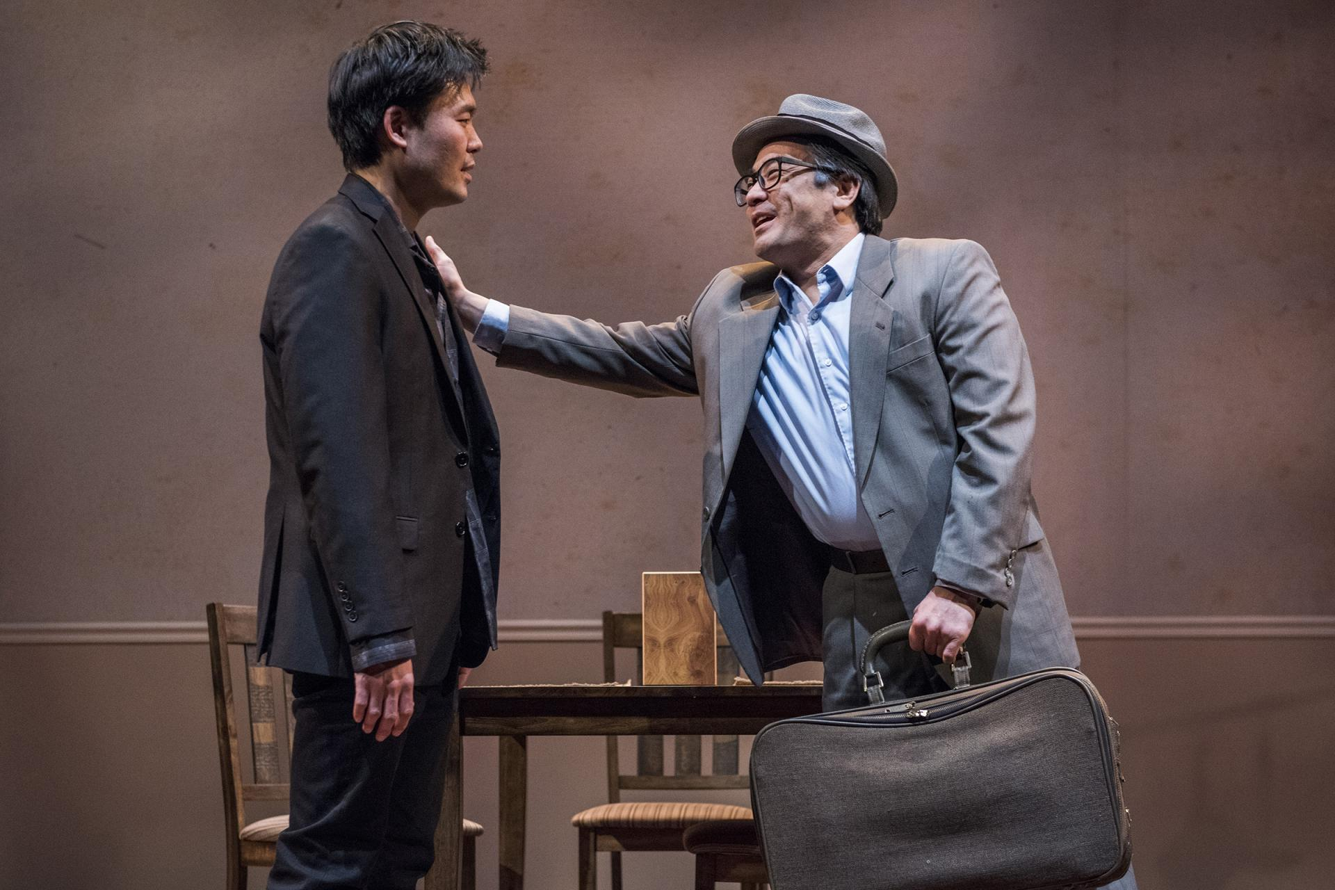 Tony Nam and Song Kim in   Aubergine   at Everyman Theatre.