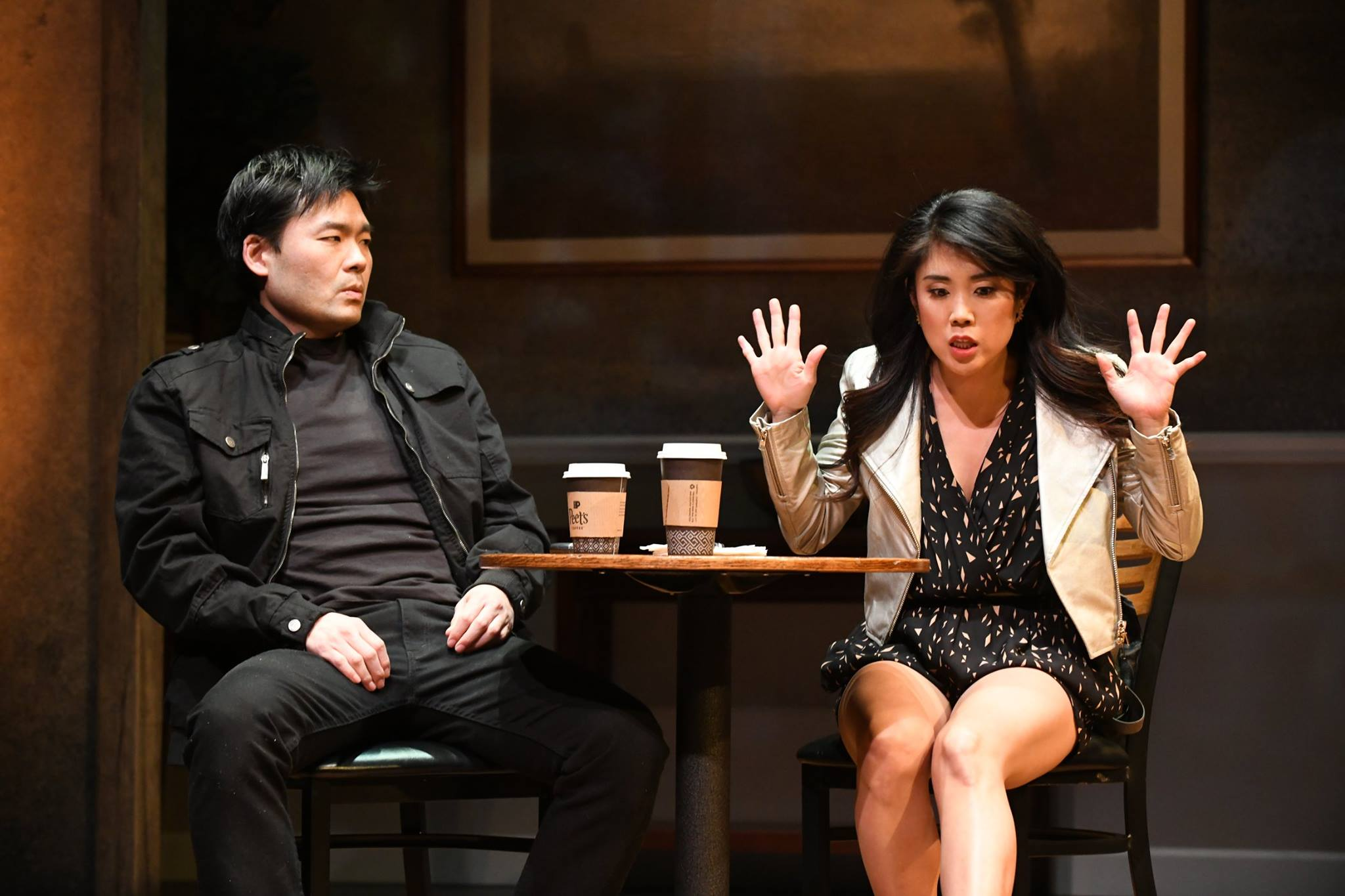 Tony Nam and Eunice Bae in Everyman Theatre's production of   Aubergine  .