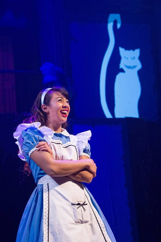 Alex Palting as Alice in   Alice in Wonderland   at Chesapeake Shakespeare Company.