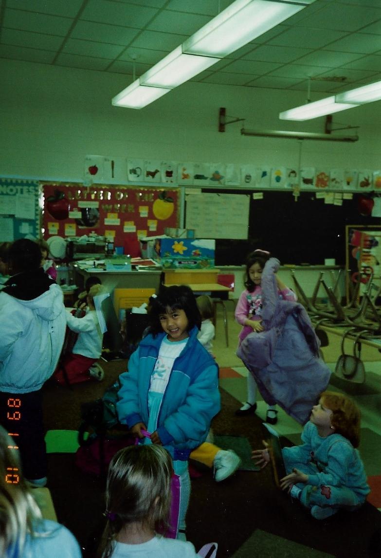 Kindergarten, circa 1989.