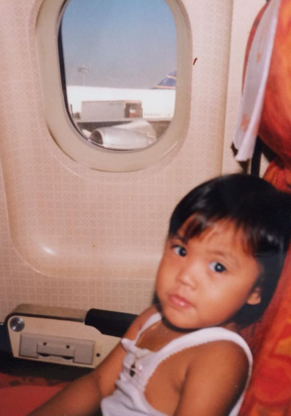 My first international airplane ride, aged 3.