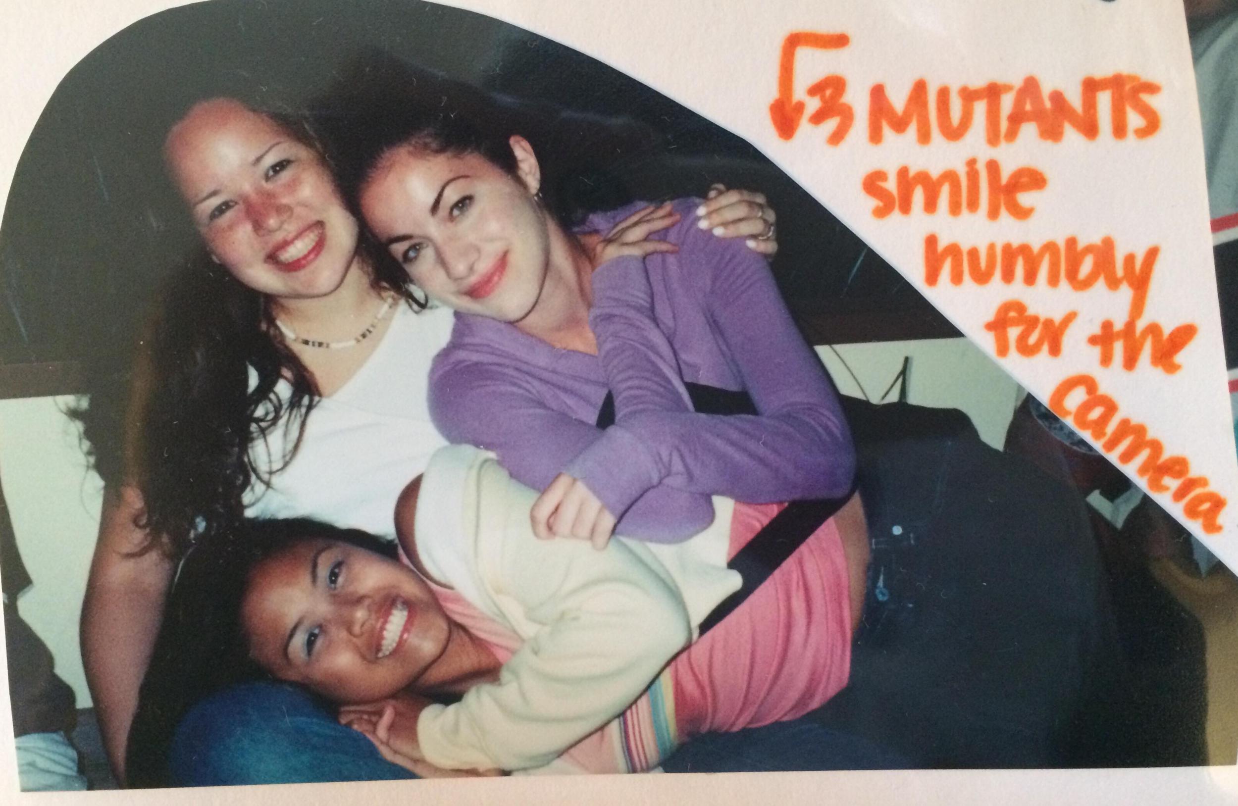 Three Mutants on a high school retreat. An excerpt from my senior year scrapbook.