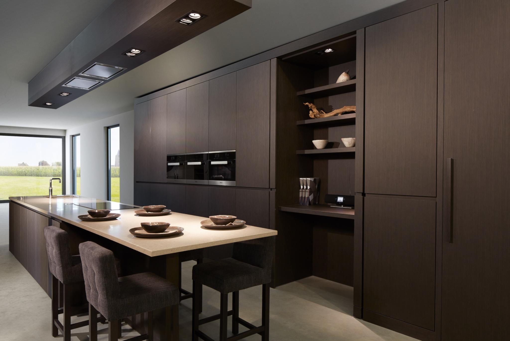 Dessel | Interieur showroom keuken geplaatst in 3D achtergrond