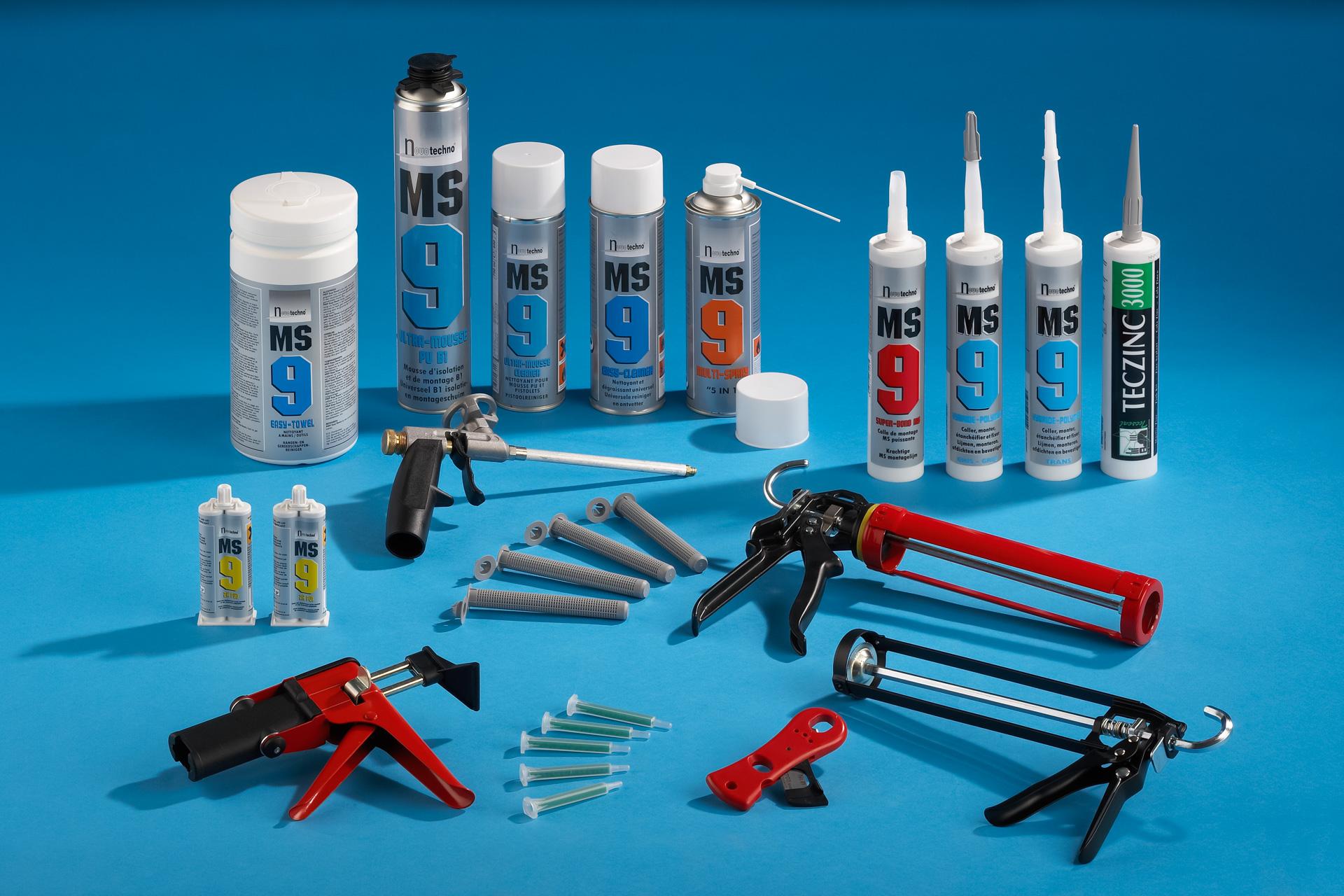 Product foto van groep lijm en kit producten